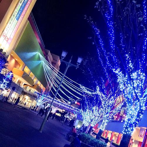昨日行った  海老名のビナウォーク  イルミネーションが綺麗だったよ♡  クリスマスに 一歩、近づいちゃった(〃ω〃)  ☆。゚+.オヤ(´・ω・ゞ)スミ.+゚。★  #illumination #christmas #blue #night #nightview #light #クリスマス #海老名 #instagramer #photooftheday #iphoneography #iphoneonly #igshir #webstagram