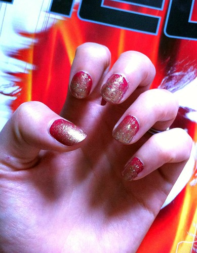 Glitter and Glimmer nails