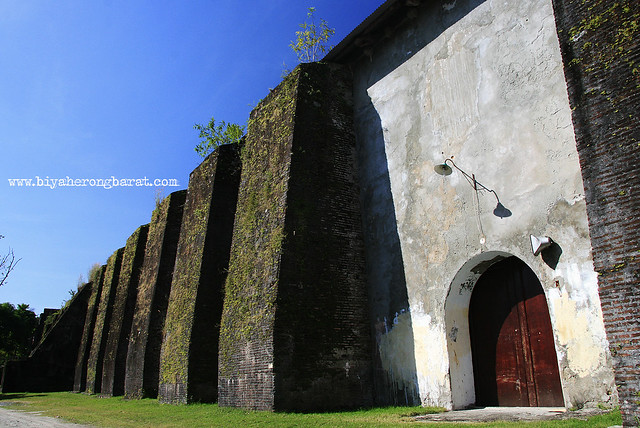 Massive church walls of Santa Maria Church Ilocos Sur