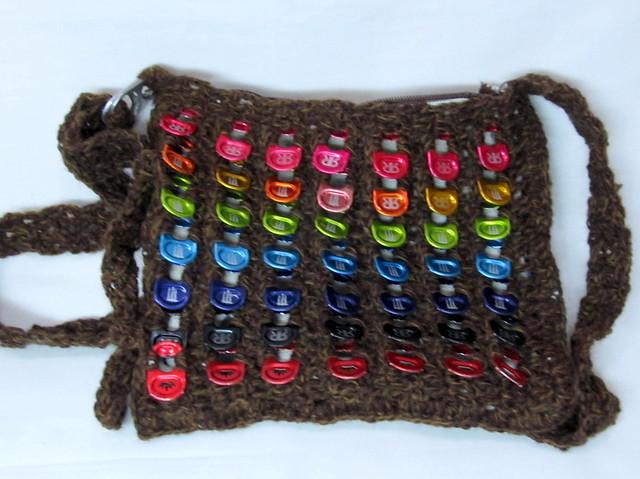 chocolate rainbow can tab mini purse