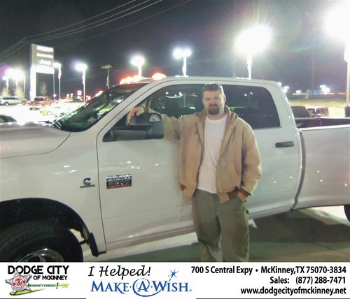 Congratulations to SCOTT B ANDERSON on the 2012 RAM 3500 Truck by Dodge City McKinney Texas