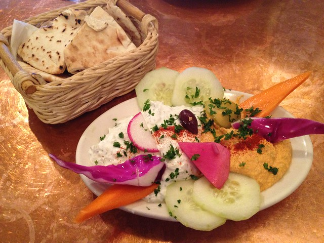 Tzatziki and spicy hummos - La Mediterranee