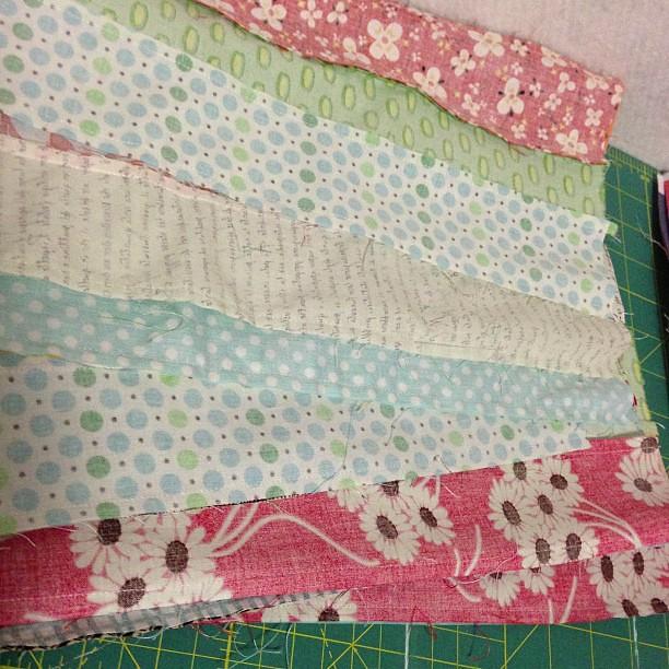 sewn strip sets