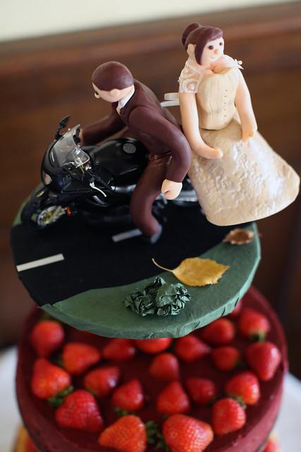 Moody Marriage - Motobike Cake topper!