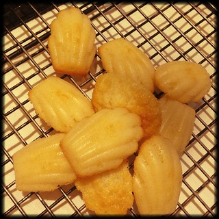 Bergamot madeleines - finishing off batter from the weekend