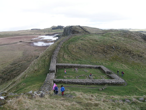 Milecastle 39, Crag Lough and Peel Crags