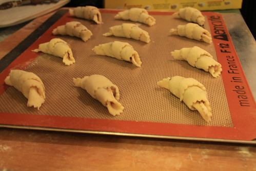 Rugelach ready for oven