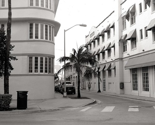 The Art Deco district on a quiet afternoon