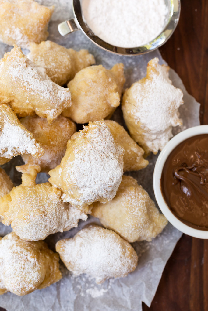 yeasted zeppole with nutella