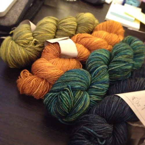 Pigeonroof Studios grab bag skeins :D