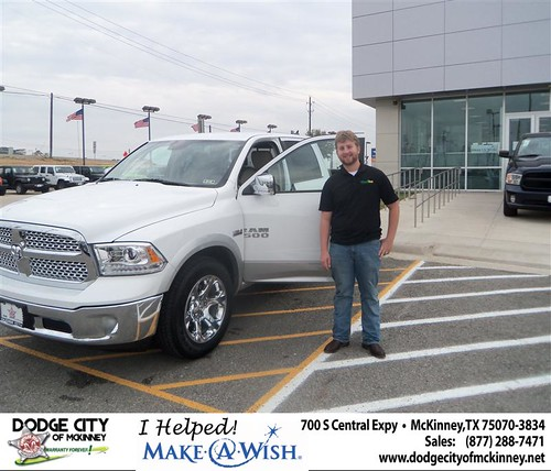Congratulations to Alexander Wallace on the 2013 Dodge Ram 1500 Truck by Dodge City McKinney Texas