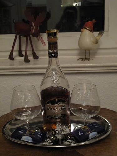 """Armenischer Weinbrand (Ararat Entir bzw. """"Fine-Champagne-Otborny"""")"""