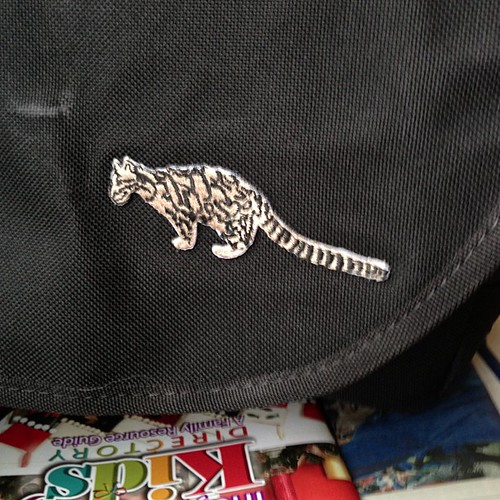 New #CloudedLeopard for my camera bag. My wife rocks!