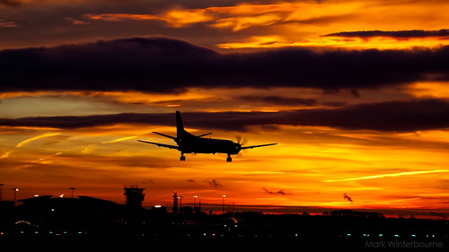 Sunrise | Leeds Bradford Airport - 19th November 2012 - and what a sunrise too... by Mark Winterbourne | P H O T O G R A P H Y