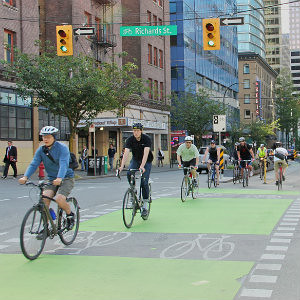 Rush Hour on the Dunsmuir Separated Bike Lane