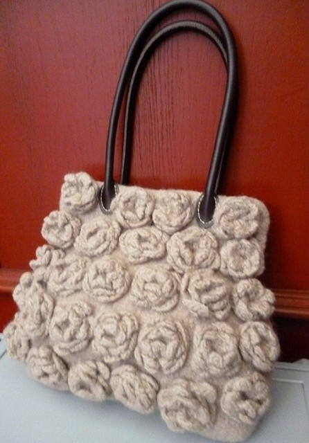 Felted Bag with Blossoms