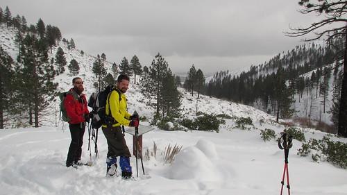 Snowshoeing in Ash Canyon