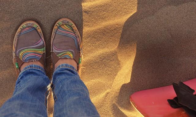 Sanuk and a Sandboard