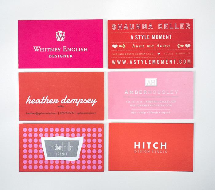 Alt Summit Business Cards 2013 - Red and Pink