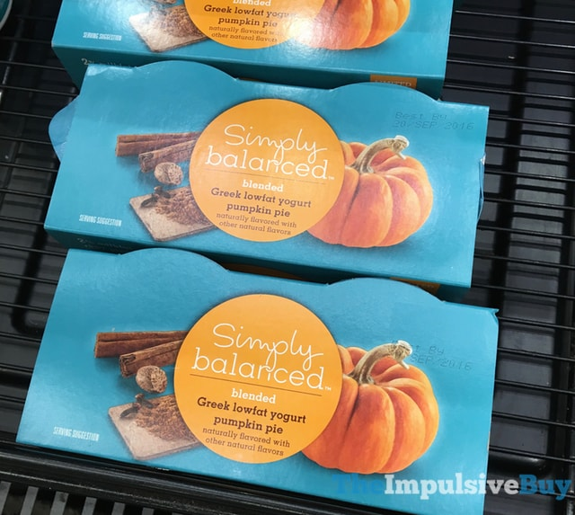 Simply Balance Blended Pumpkin Pie Greek Lowfat Yogurt