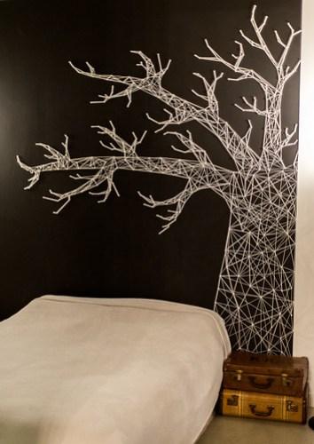 White yarn tree