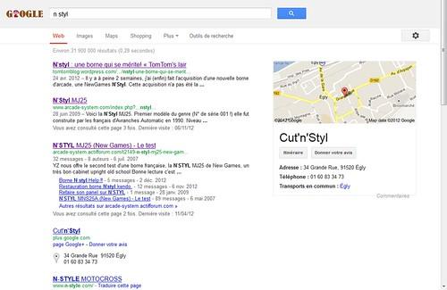 Recherche Google N Styl