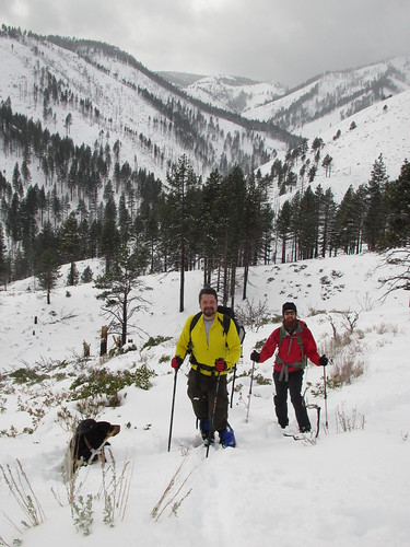 Snowshoeing in Ash Canyon