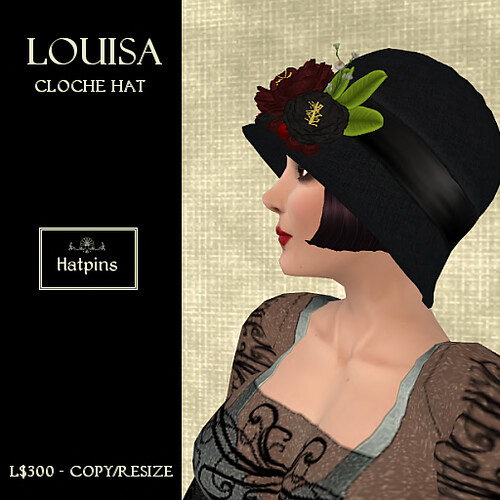 Louisa Cloche Hat - Red (copy_mod)