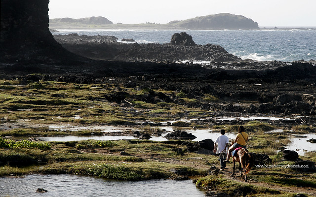 Horseback riding in Kapurpurawan Rock Formations Ilocos Norte