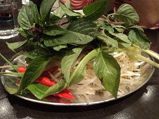 Basil at Pho Linh + wattery bean sprouts