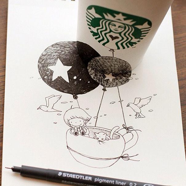 starbucks-cups-3d-drawings-tomoko-shintani-10