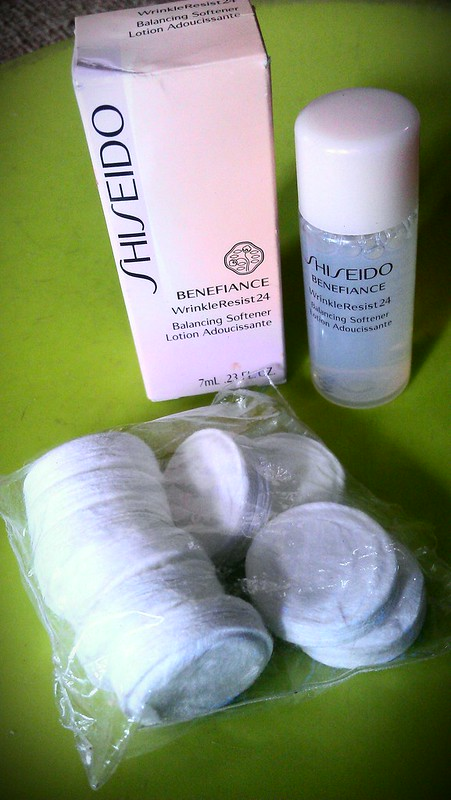 Shiseido Pop-up Mask and Shiseido Benefiance  Wrinkle Resis 24 Balancing Softener