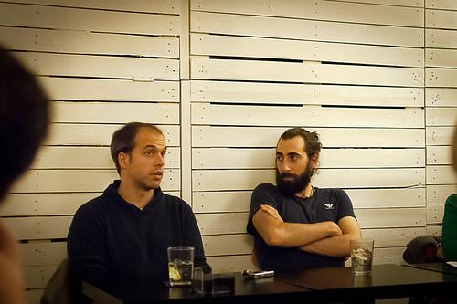 Los fotoperiodistas Álvaro Ybarra y Manu Brabo, en La Tertulia Infinita 3