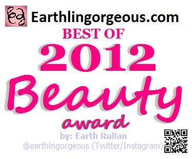 Earthlingorgeous.com Best of 2012 Beauty Award