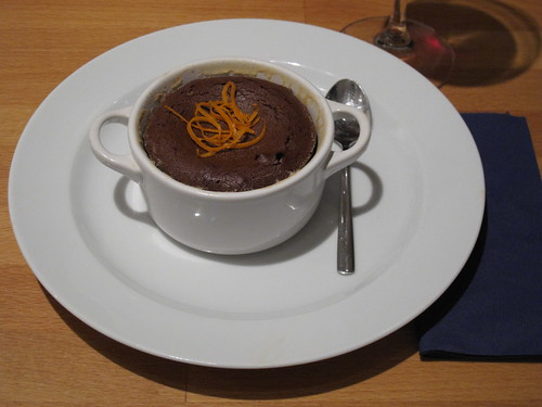 Mini-Cocottes-Menu-Dessert: Schokoladentöpfchen