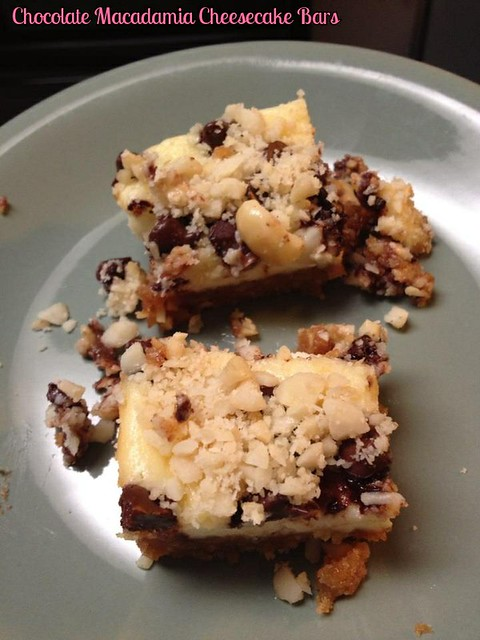 Chocolate Macadamia Cheesecake Bars