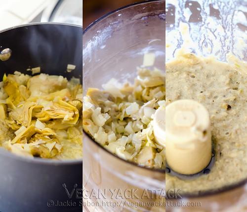 A light, filling creamy 3-in-1 Artichoke Arugula Soup that's healthy and combines artichoke hearts and arugula! Vegan, Gluten-free