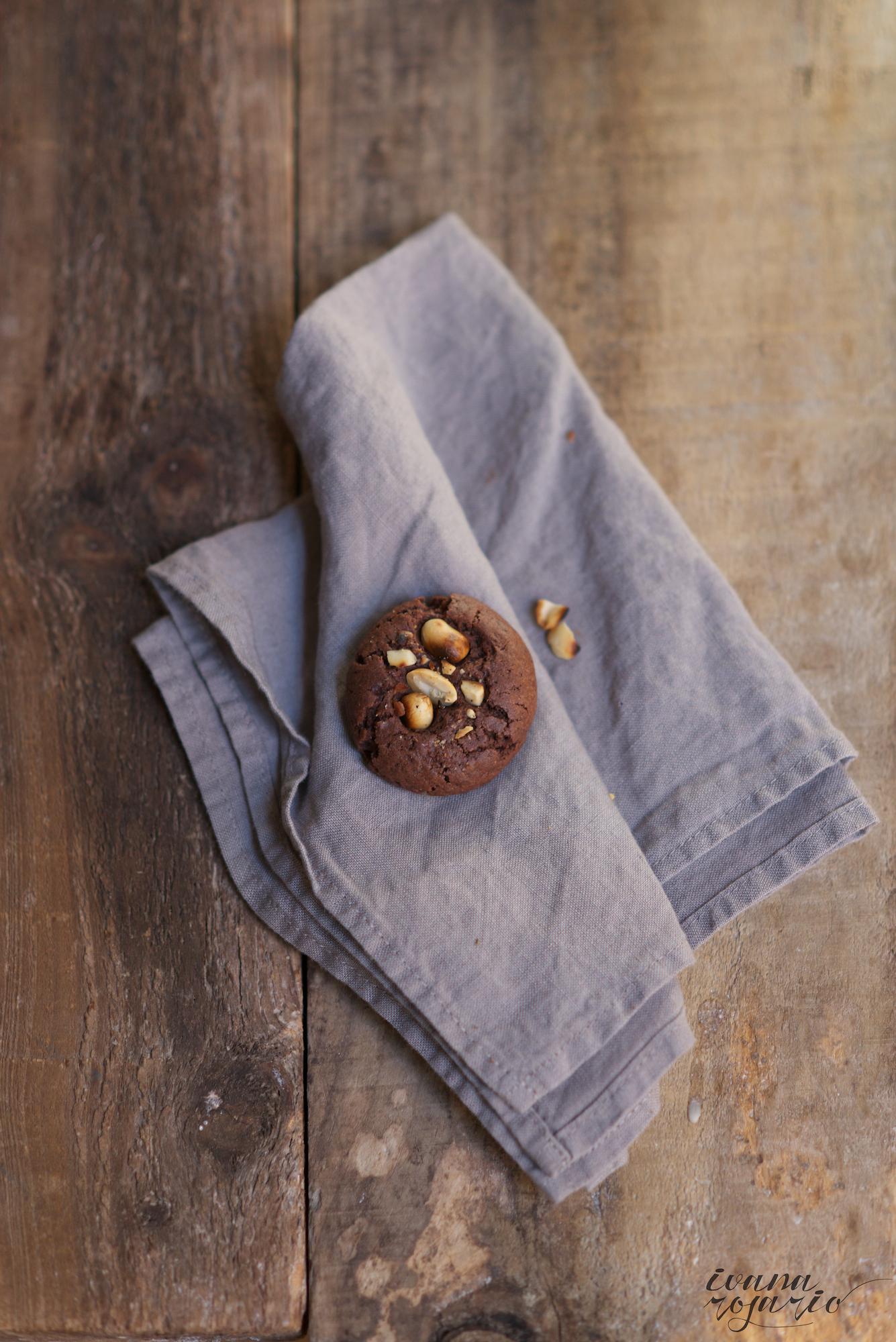 galletas de chocolate y cacahuetes,