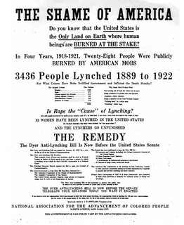 NAACP Anti-Lynching Advertisement in New York Times: 1922