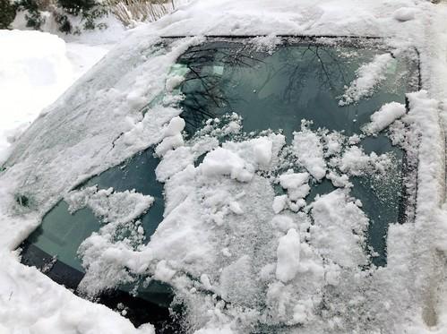 Melting windshield