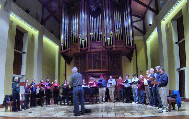 Chamber Ensemble rehearsal
