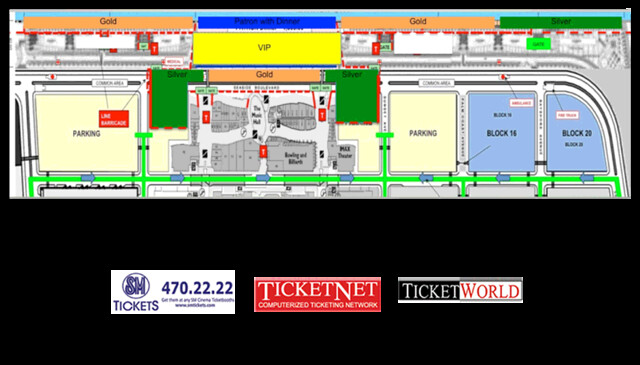 Pyromusical 2013 SM Mall of Asia Map