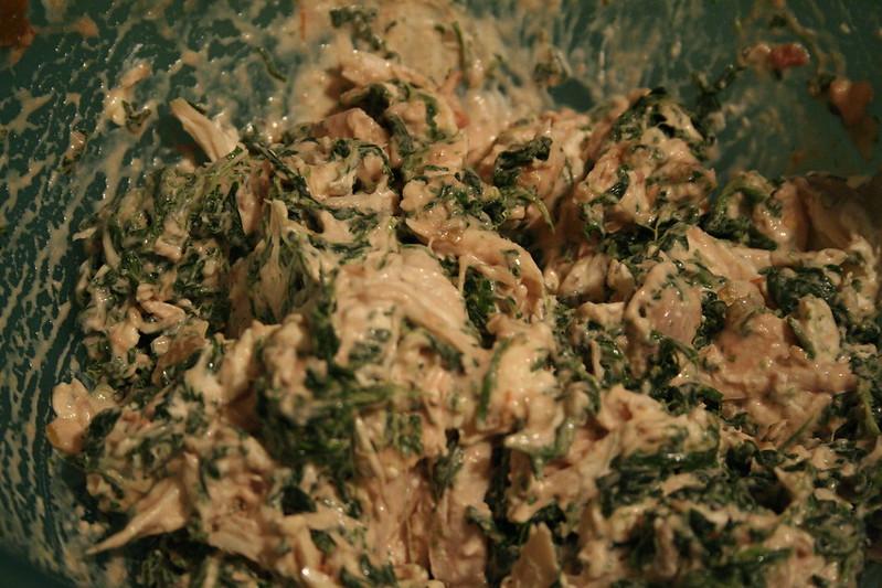 Spinach Chicken Enchiladas | Lazy Lady