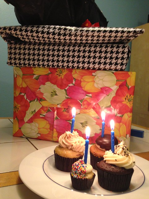 Cake and presents