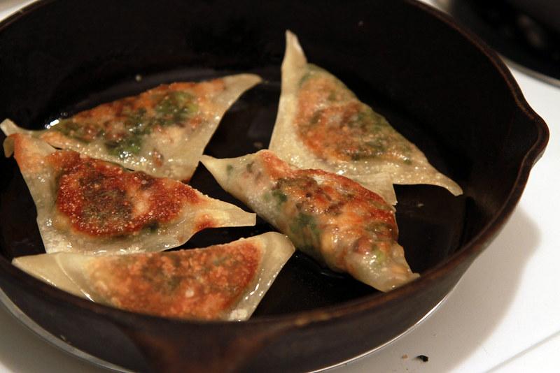 dumplings, pan fried
