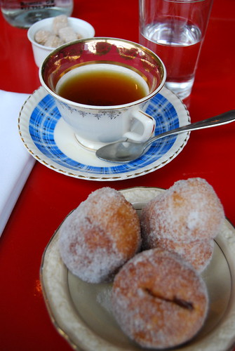 Tea and beignets at Lawrence