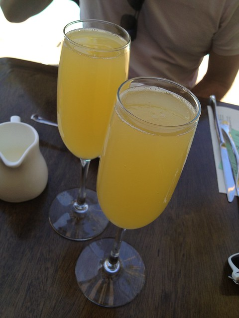 Orange mimosas - Purple Palm Restaurant
