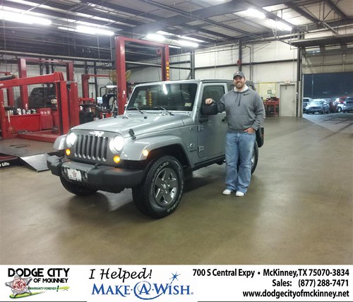 Congratulations to Brian Gilmore on the 2013 Jeep Wrangler by Dodge City McKinney Texas
