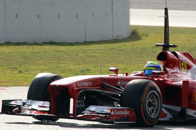 Felipe Massa in his Ferrari at Formula One Winter Testing, March 2013