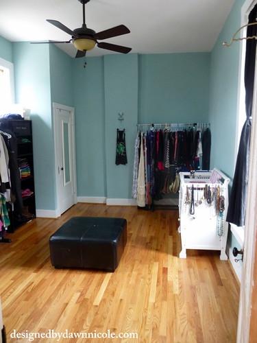 Spare Room turned into Organized Closet